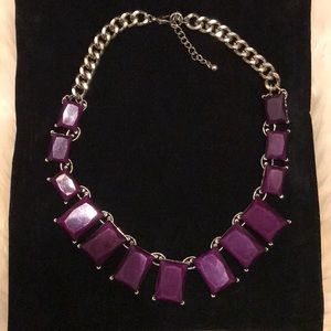 Purple Cube Statement Necklace